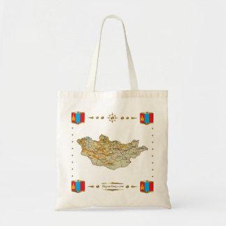Mongolia Map + Flags Bag