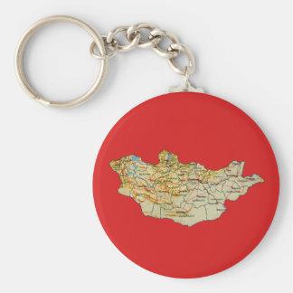 Mongolia Map Keychain