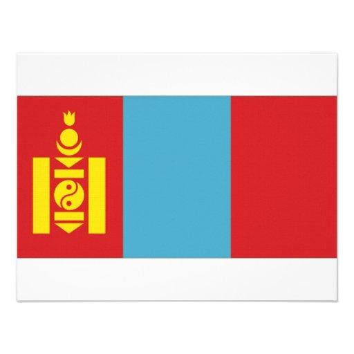 Mongolia National Flag Personalized Invites