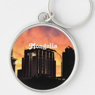 Mongolia Skyline Keychains