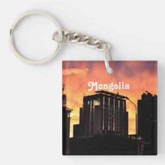 Mongolia Skyline Acrylic Key Chains