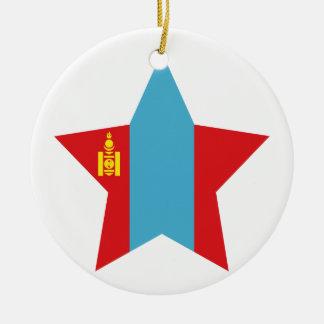 Mongolia Star Christmas Ornament