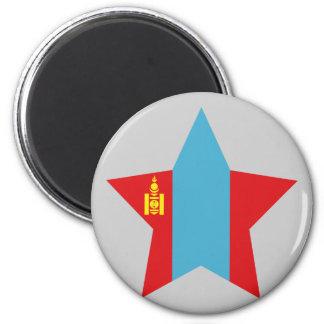 Mongolia Star Fridge Magnets