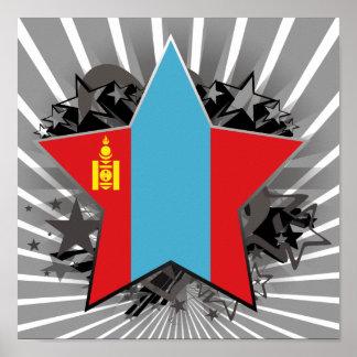 Mongolia Star Poster