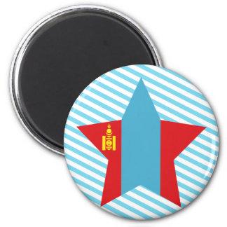 Mongolia Star Refrigerator Magnets