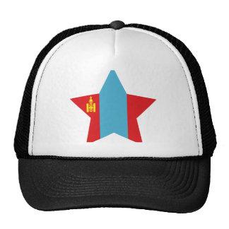 Mongolia Star Trucker Hats