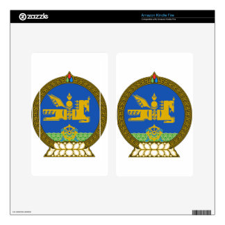 Mongolia State Emblem Skin For Kindle Fire