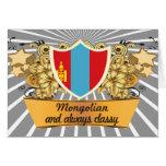 Mongolian con clase tarjeta de felicitación