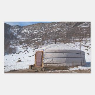 Mongolian Countryside photography Rectangular Sticker