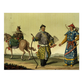Mongolian Eight Flags soldiers from Ching's milita Postcard