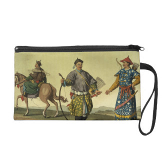 Mongolian Eight Flags soldiers from Ching's milita Wristlet Purse