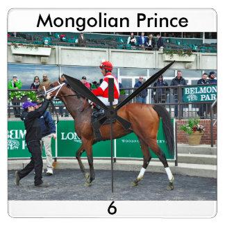 Mongolian Prince Square Wall Clock