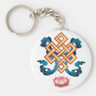 Mongolian religion symbol endless knot for decor keychain