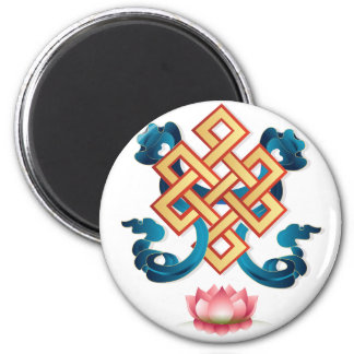 Mongolian religion symbol endless knot for decor magnet