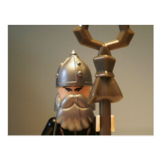 Mongolian Warrior Chief Custom Minifigure Postcard