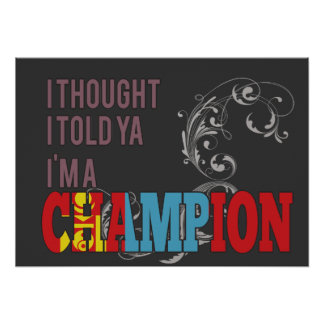 Mongolian y un campeón impresiones