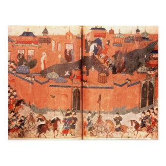 Mongols bajo dirección de Hulagu Khan Tarjeta Postal