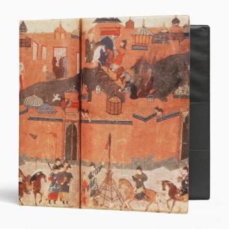 Mongols under the leadership of Hulagu Khan Vinyl Binders