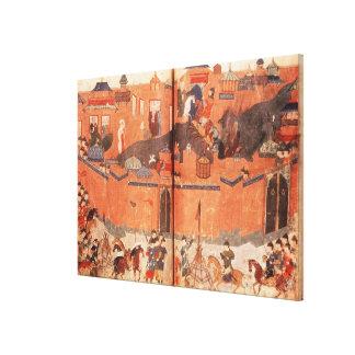 Mongols under the leadership of Hulagu Khan Canvas Print