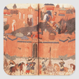 Mongols under the leadership of Hulagu Khan Square Sticker