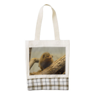 Mongoose a Tree Branch Zazzle HEART Tote Bag