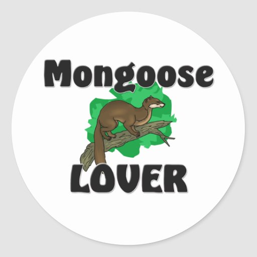 Mongoose Lover Classic Round Sticker