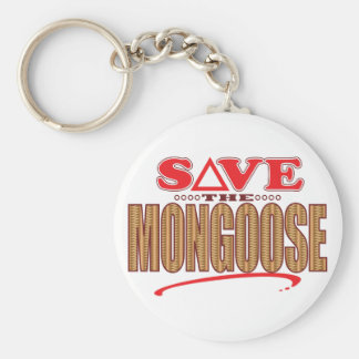 Mongoose Save Basic Round Button Keychain