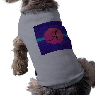 Mongoram púrpura del brillo ropa de mascota