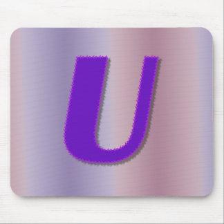 Mongram de la púrpura de U Alfombrilla De Ratones