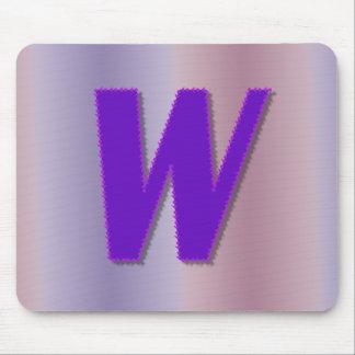 Mongram de la púrpura de W Tapete De Raton