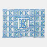 Mongram K inicial Toallas De Mano