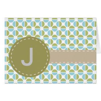 Mongram patterns card