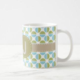 Mongram patterns coffee mug