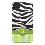 Mongrammed Zebra Print iPhone 4 Case-Mate iPhone 4 Case-Mate Case