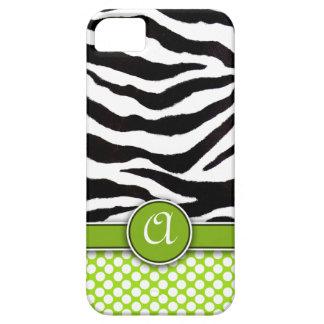 Mongrammed Zebra Print iPhone 5 Case-Mate iPhone 5 Covers