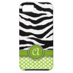 Mongrammed Zebra Print iPhone 5 Case-Mate Tough