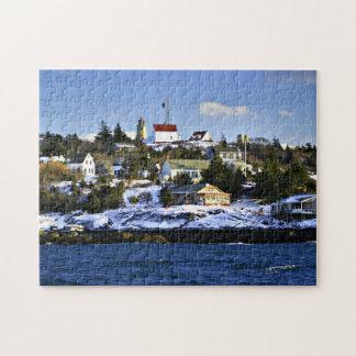 Monhegan Island Lighthouse, Maine Jigsaw Puzzle