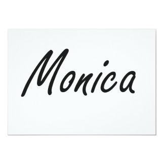 Monica artistic Name Design 5x7 Paper Invitation Card