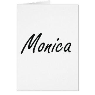 Monica artistic Name Design Greeting Card