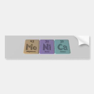 Monica as Molybdenum Nickel Calcium Bumper Sticker