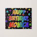 "[ Thumbnail: ""Monica"" First Name, Fun ""Happy Birthday"" Jigsaw Puzzle ]"