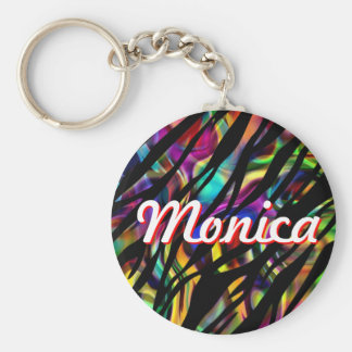 Monica Personalized Colorful Keychain