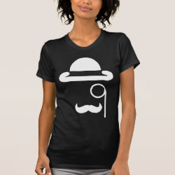Women's American Apparel Fine Jersey Short Sleeve T-Shirt with Mustache Phone Cases design