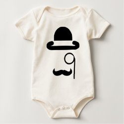 Infant Organic Creeper with Mustache Phone Cases design