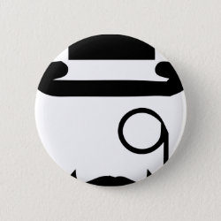 Round Button with Mustache Mugs design