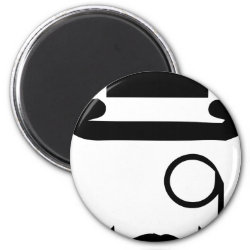 Round Magnet with Mustache Phone Cases design
