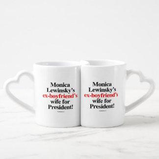 Monica's ex-boyfriend's wife for president - Anti  Coffee Mug Set