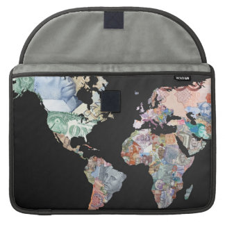 Monies of the World - Currency Laptop Cover Sleeve MacBook Pro Sleeves