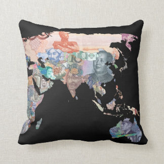Monies of the World - Currency Pillow Map
