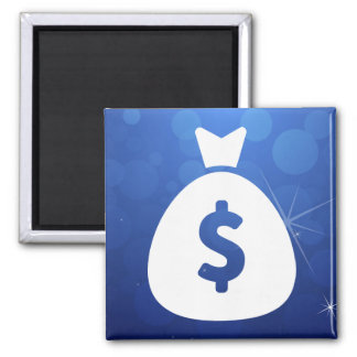 Monies Sign 2 Inch Square Magnet